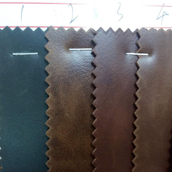 Crazy Horse Texture PU Leather Use for Jean Label