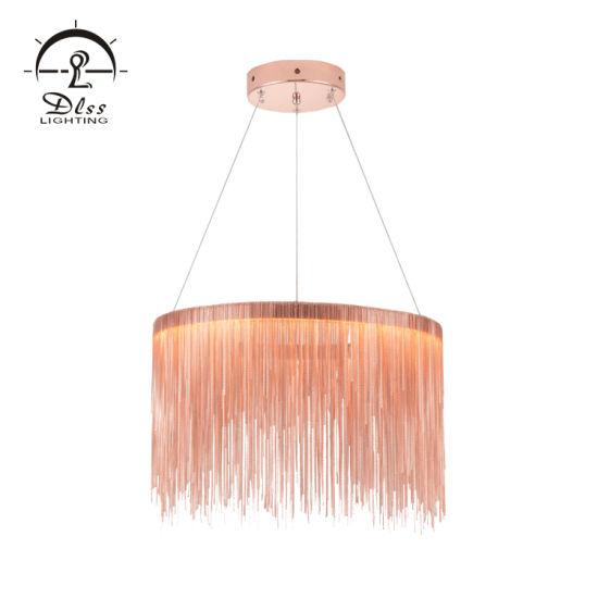 2019 Special Iron Aluminum Materials Silver Copper Colors Hanging Pendant Lighting