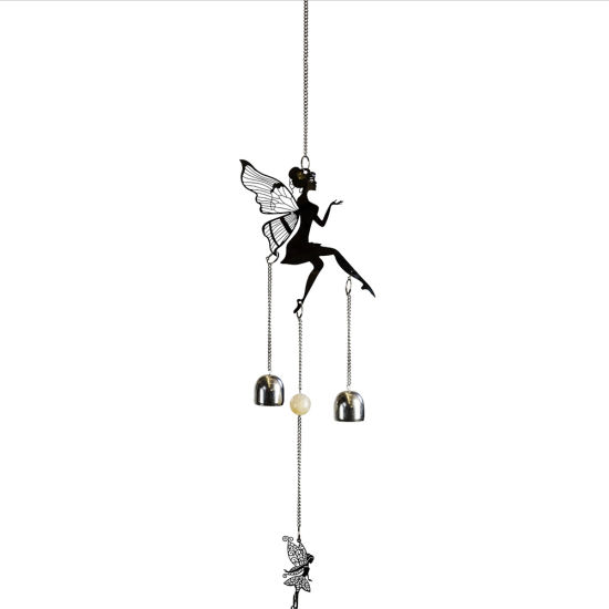 Garden Decor Hanging Metal Fairy Melody Stainless Steel Wind Spinner for Ornaments