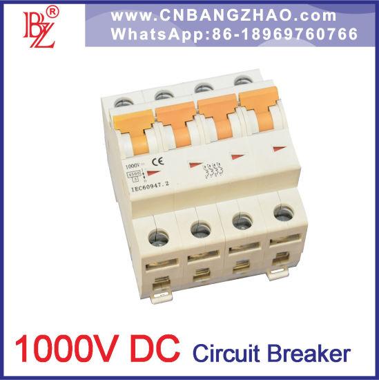 China Supplier 1 Pole to 4 Pole MCB 1000V DC Breaker