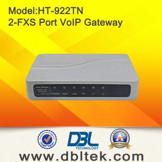 HT-922TN FXS VoIP Gateway Voice gain adjustable Support T.38 Two RJ-11 FXS port