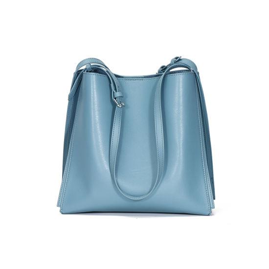 New Design Large Capacity Soft Genuine Cow Leather Ladies Handbags