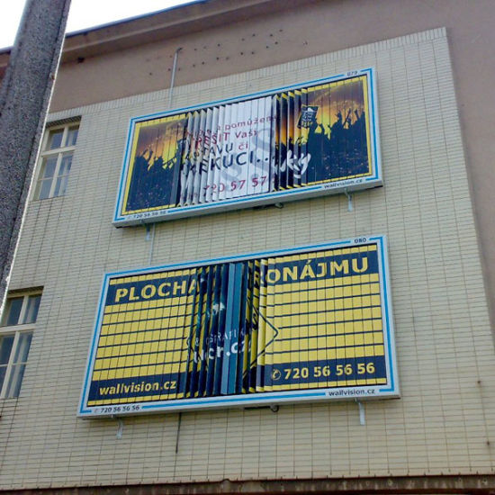Outdoor Wall Triple Sign Billboard Display for Advertising (F3V-131S)