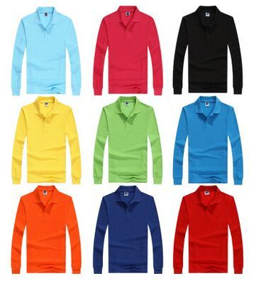 Custom All Sorts of Polo T Shirt in Long Sleeve with Various Colors, Sizes, Materials and Designs