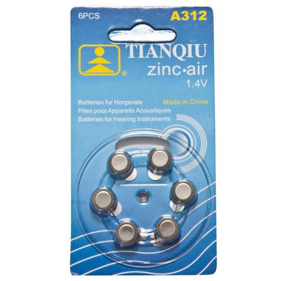 A312 Zinc-Air Button Cell Hearing Aid Battery