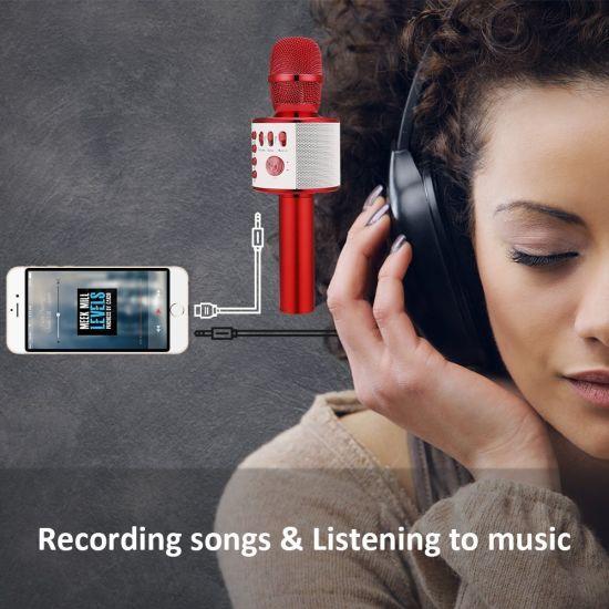 Wireless Bluetooth Karaoke Microphone Q37 for Home KTV