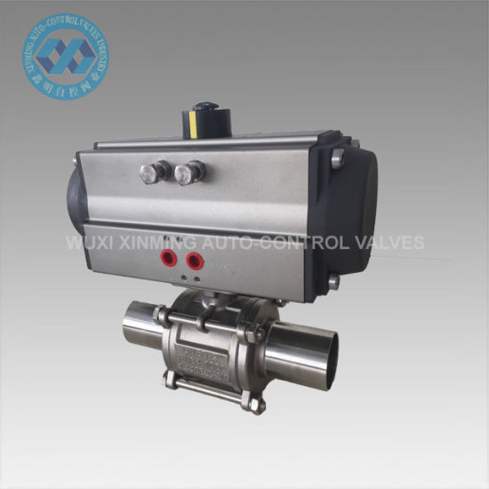 Sanitary Valve, Pneumatic Extended Solder Ends Sanitary Ball Valve pictures & photos