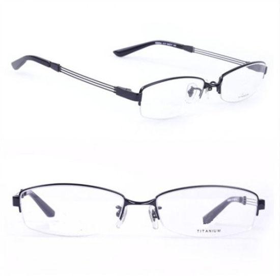 China Ry Titanium Original Eyeglasses Half Rim Brand Name Frames ...