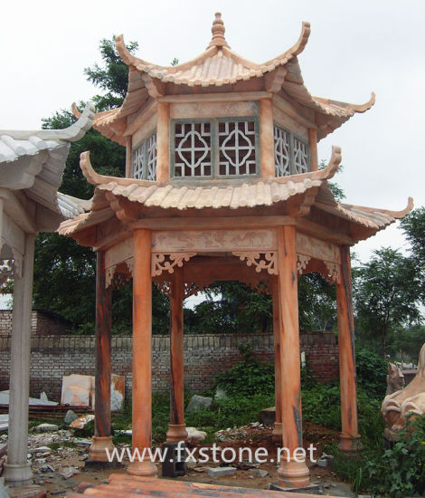 Chinese Traditional Carved Stone Gazebo pictures & photos