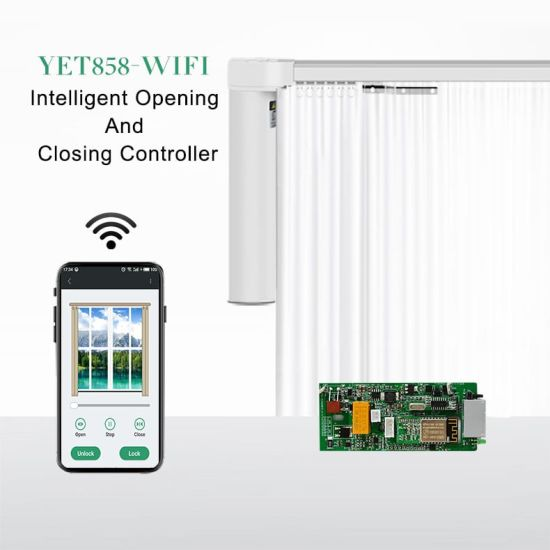 Complete Set of Electric Curtain WiFi Controller Yet858-WiFi pictures & photos