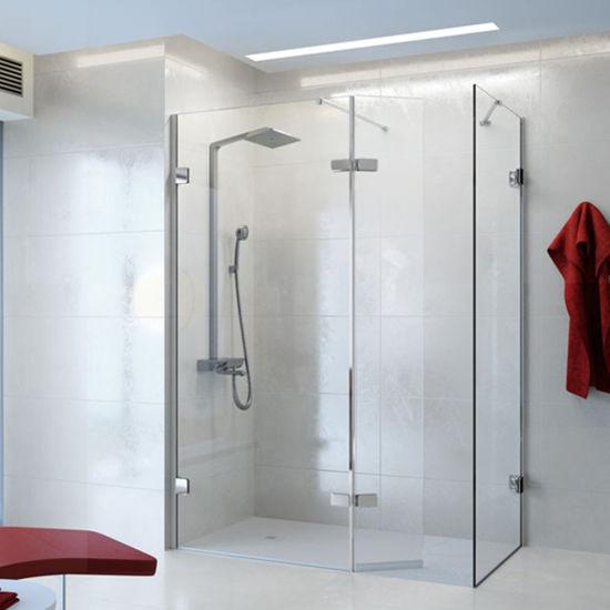 Corner Entry Sliding Shower Enclosure and Square Shower Door