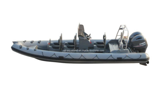 China Aqualand 25feet 7.5m Rigid Inflatable Patrol Boat/Fiberglass Rib Rescue Boat (RIB750B) pictures & photos