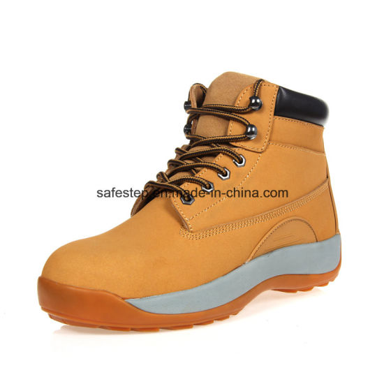 Hight Cut Nubulk Leather Men's Safety Shoes