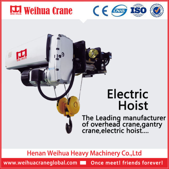 2018 Hot Selling European Type Wire Rope Electric Hoist for Crane