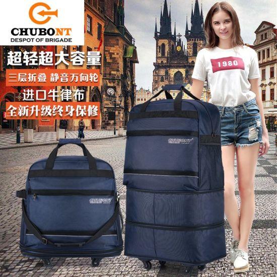 Chubont Soft Foldable Expandable 5 Wheels Travel shopping Handbag