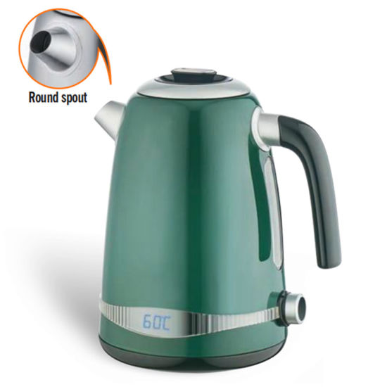 Stainless Steel Electric Thermo Kettle with Round Spout