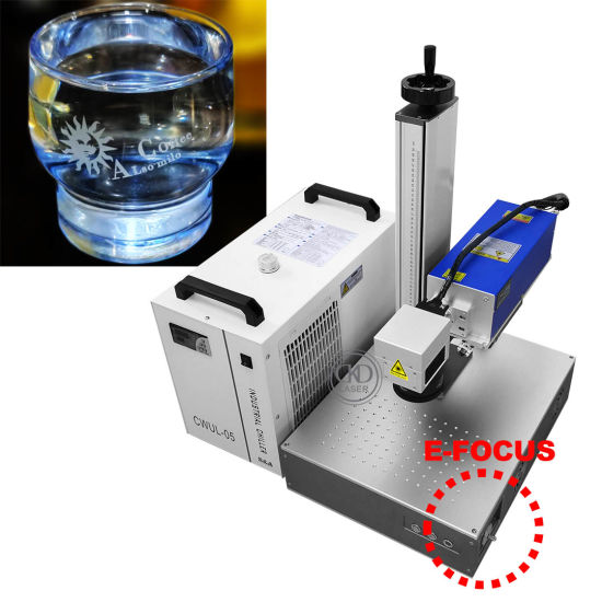 Portable UV Laser Marking Machine for All Material (Glass Leather Cloth Cotton Fruits Vegetable Biscuit, Metal Plastic, Support Cutting...)