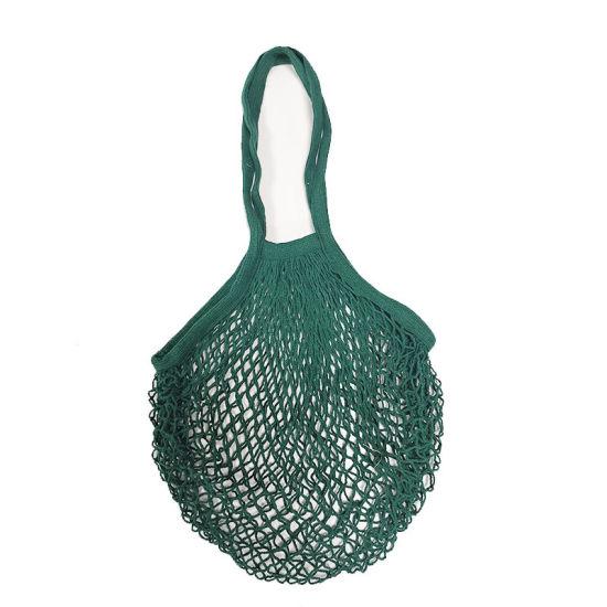 Organic Mesh Handle String Bags / Cotton Net Produce Beach Bag