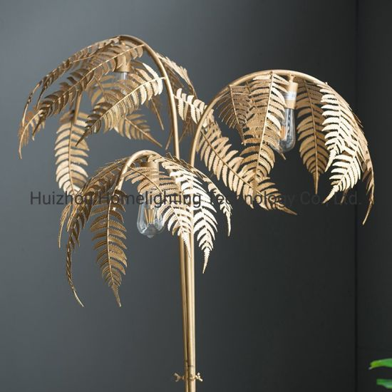 Jlf 4992 Decorative Post Modern Luxury Palm Tree Gold Floor Standing Lamp For Home Living Room China Palm Tree Floor Lamp Floor Standing Lamp Made In China Com