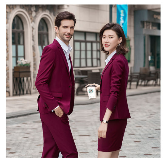 2020 Jacket Vest Pants Single Breasted Mens Women Formal Business Suits pictures & photos