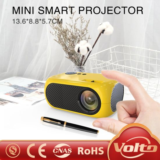 Support 1080P Full HD LED LCD Multimedia Interactive Mobile Mini Pocket Portable Pocket Video Projector