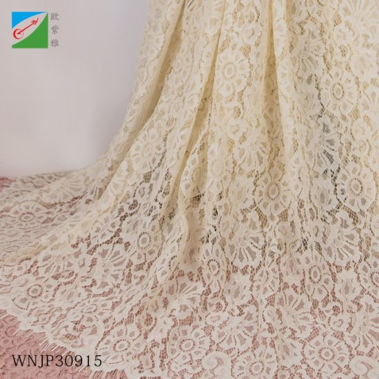 Bridal Textile Cotton Lace Fabric for Textiles Wedding Dress Fabric Lace Material Garment Clothing
