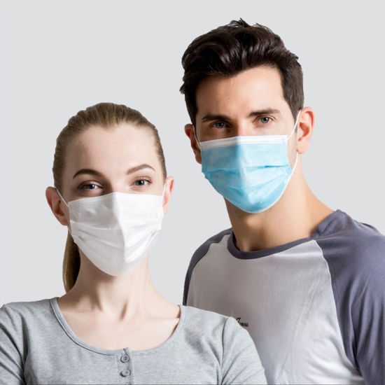 Manufacturer 3 Ply of Protection, Non-Woven Surgical Face Mask Disposable Mask Anti Dust Pm 2.5 Disposable Medical Respirator Face Mask