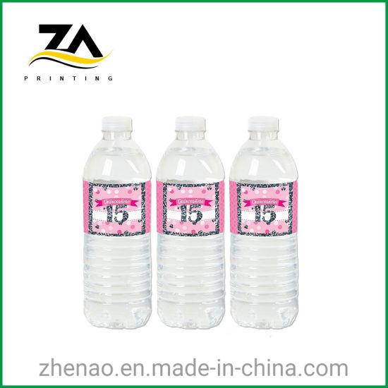 Plastic Paper Adhesive Colorful Fruit Juice Label Printing Bottle Sticker