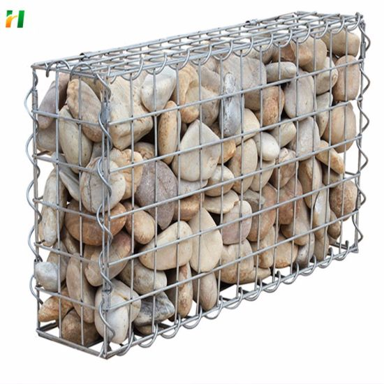 Galvanized Steel Welded Gabion Mesh Welded Gabion Box Fence