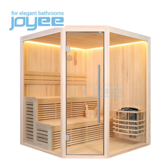 Joyee Cheap Price Economic Home Indoor Sex Steam Sauna Traditional Wooden Sauna Cabin for Family 2 - 4 Person