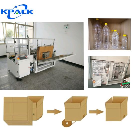 Wholesale Automatic Vertical Case Erector Carton Packing Machine for Water Bottling