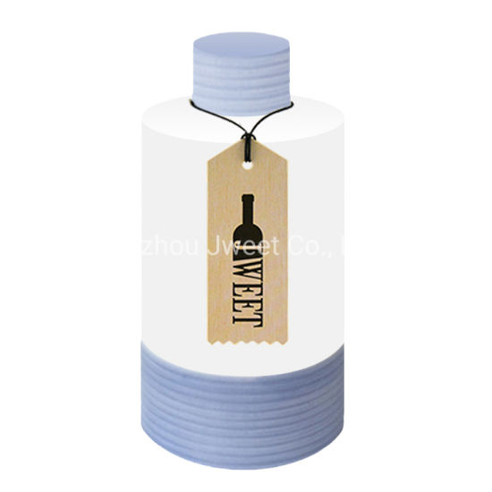 Custom Design Cylinder Shaped 750ml Sake Wine Ceramic Bottle with Cork