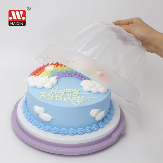 Cake Container Plastic Package Pastry Round Dome Birthday Cake Box