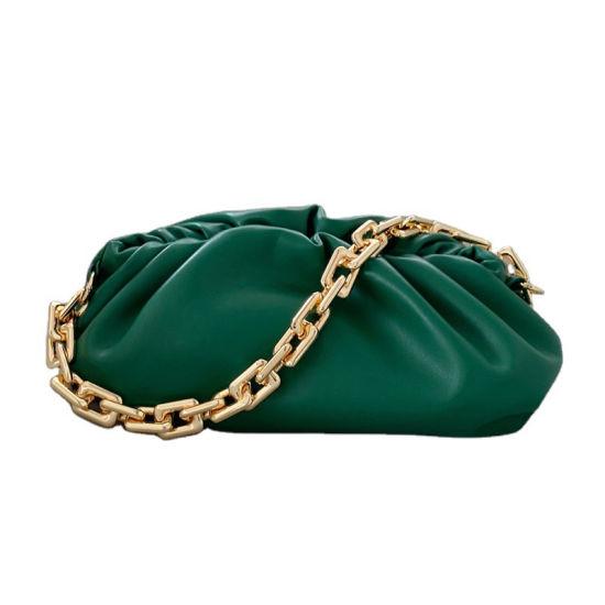 Women's Genuine Leather Handbag Lightweight Female Pouch Trendcolor Fashion Design Charms Clutch Bags