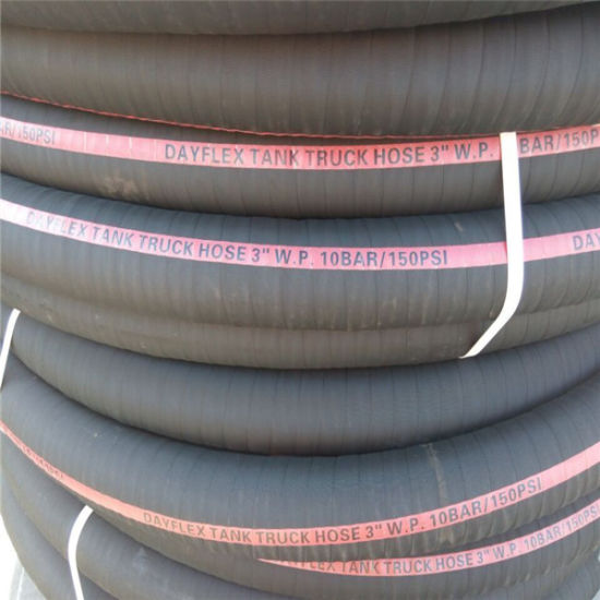 High Pressure Rubber Fuel Oil Suction & Delivery Hose/Tank Truck Hose pictures & photos