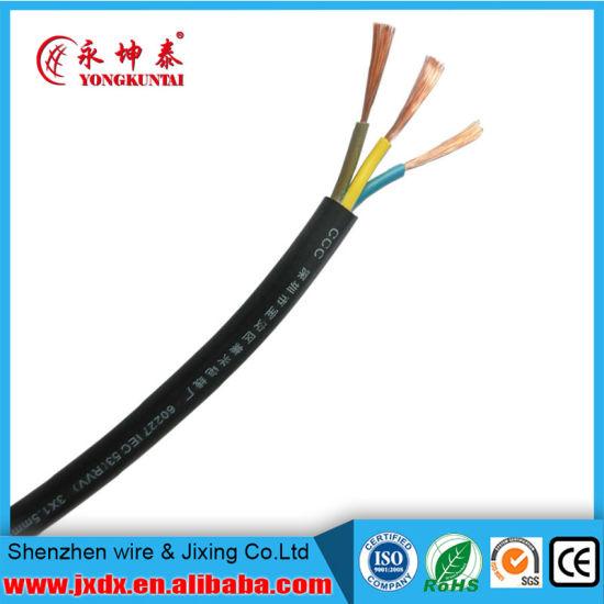 China Rvv 3 Core 3*2.5 Sqmm Electric Flexible Copper Wire - China ...