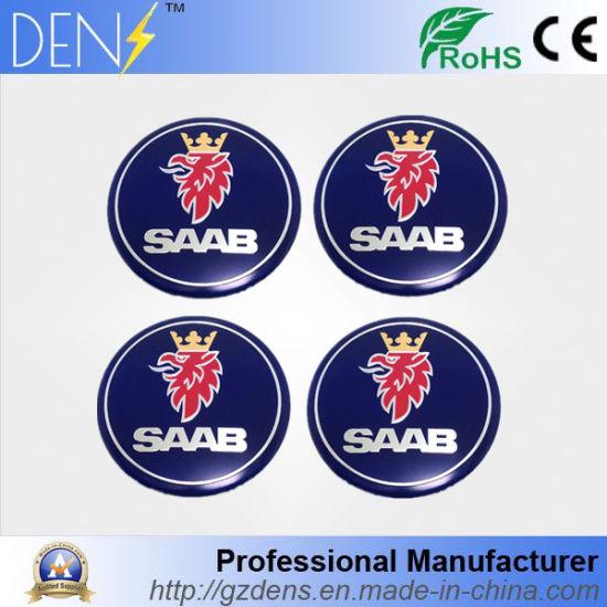 China 56mm Saab Emblem Wheel Center Stickers Wheel Covers Badges Hub