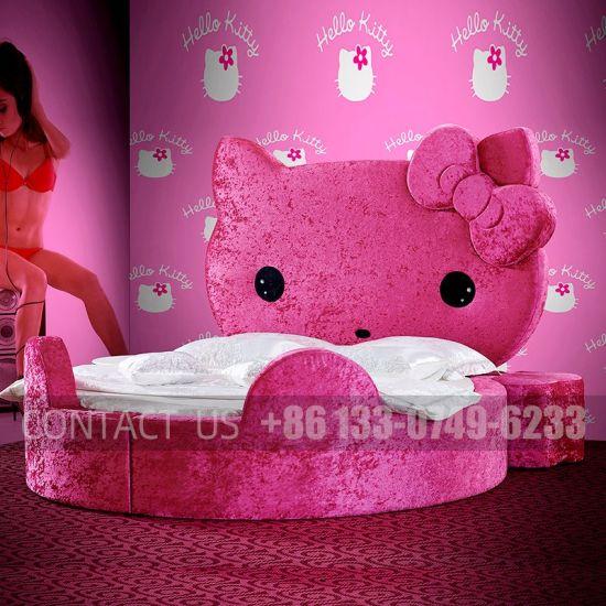 Spiksplinternieuw Luxury Hello Kitty Kingsize Sex Round Bed High Quality for Hotel EC-54