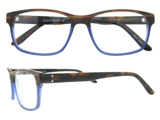 China Wholesale Classic Demi Acetate Optical Eyeglasses Frame for Men with Spring Hinge pictures & photos