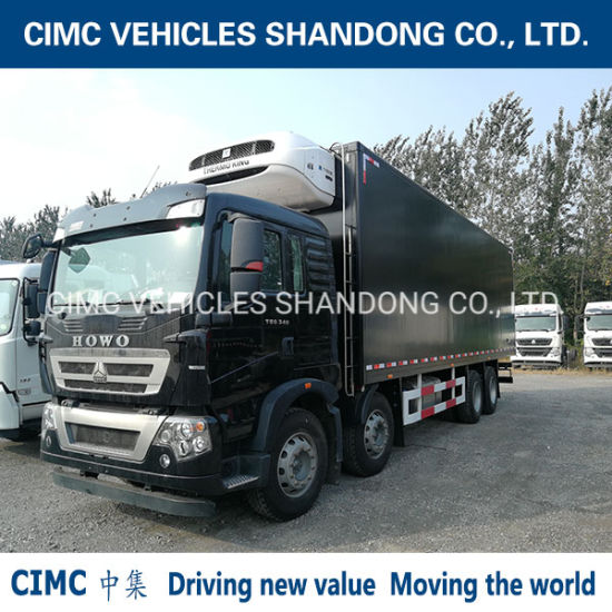 Cimc Refrigerated Box with Thermo King Refrigerator and 8*4 HOWO Chassis Refrigerated Truck