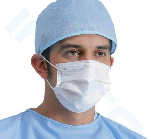 Worker Health Safety Products Disposable Face Mask Sterile Surgical Cleanroom
