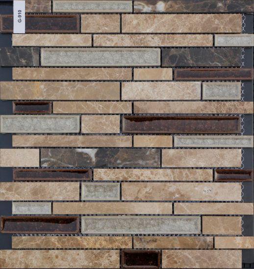 Brown Marble Mosaic Broken Gl