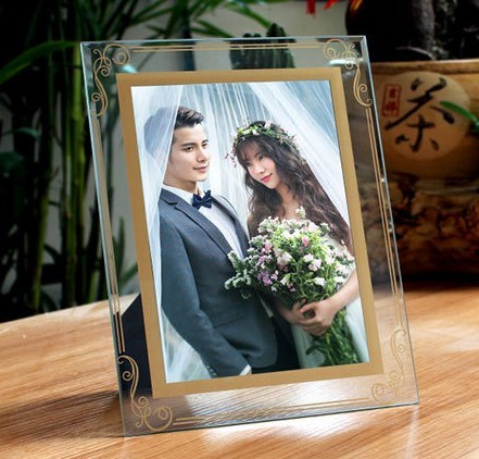 Album Craft Advertising Display Mirror Plaque Wedding Crystal Glass Picture Photo Frame Home Decoration