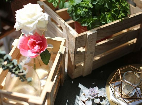 China Perfect For Floral Arrangements Gardening Wedding Display Decorative Storage Wooden Crates China Vintage Stained Rustic And Wooden Box Price