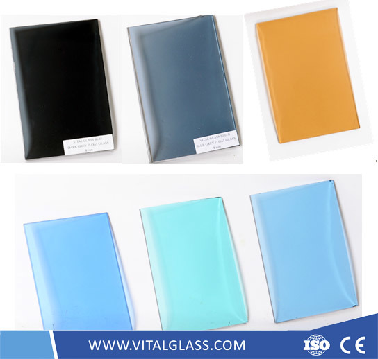 Clear White/Tinted/Reflective/Low Iron Crystal/Golden/Bronze/Blue/Green/Grey/Black/Pink Building Flat Float Glass for Door and Window pictures & photos