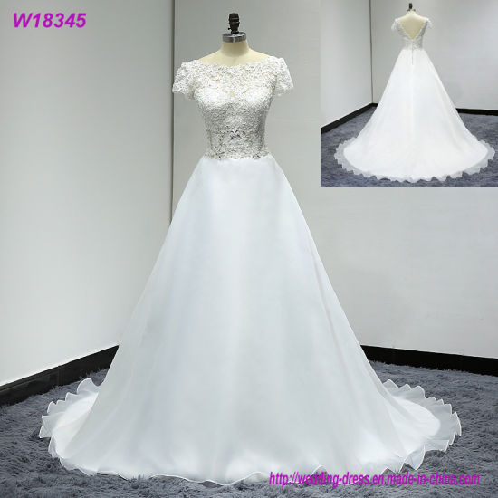 Wedding Dresses Cap Sleeve Detachable Bridal Gowns W18345