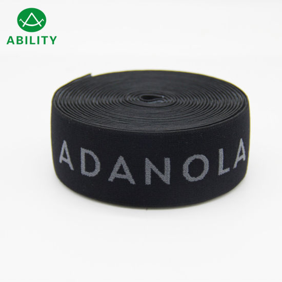 40mm Top Quality Nylon Customized Jacquard Waistband Elastic Webbing