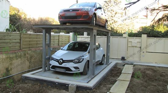 Underground Garage Parking Car Lift for Two Cars