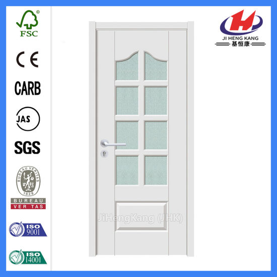 China Internal Wooden Glass Awing White French Doors Jhk G28