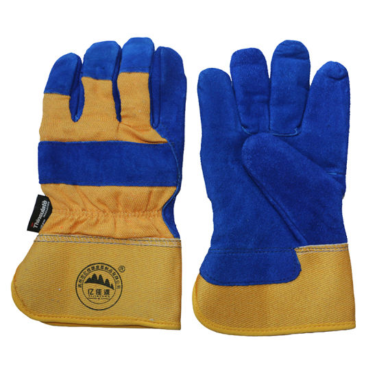 Thinsulate Full Lining Rubberized Cuff Winter Working Safety Gloves pictures & photos